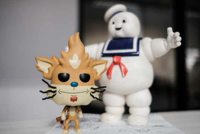 Cat and Stay Puff Marshmallow Man